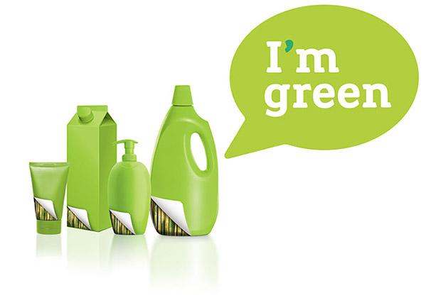 """Embalagens verdes, com o selo """"I'm Green"""""""
