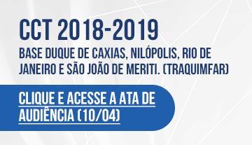 CCT 2018-2019 – BASE Duque de Caxias, Nilópolis, Rio de Janeiro e São João de Meriti.  (TRAQUIMFAR)